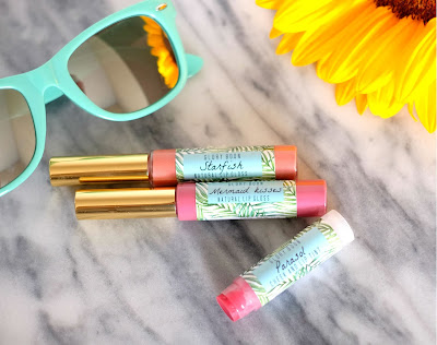 Glory Boon Lip & Cheek Tint in Parasol, Lip Gloss in Starfish, Lip Gloss in Mermaid Kisses