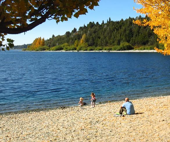Praias no Lago Moreno em Bariloche