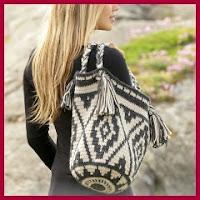 Mochila étnica a crochet