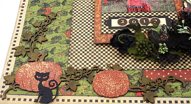 Halloween and fall 12 x 12 scrapbook layout