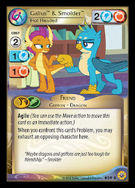 My Little Pony Gallus & Smolder, Hot Headed Friends Forever CCG Card
