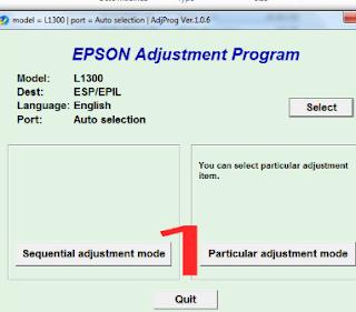 Epson RESETTER descarga gratuita L1300
