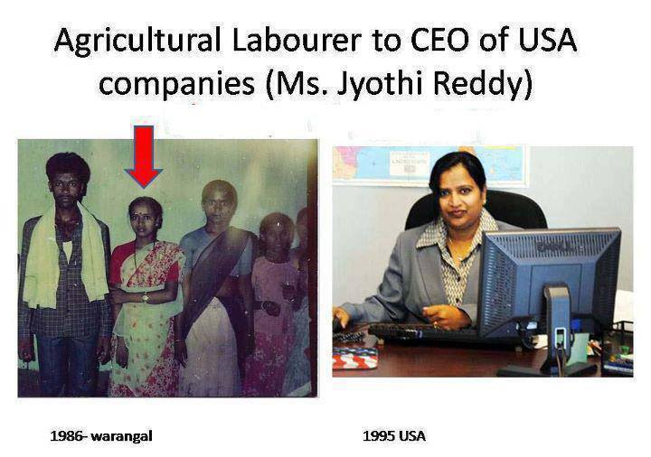 The Story of Anila Jyoti Reddy - Agricultural labourer to a CEO of USA Companies