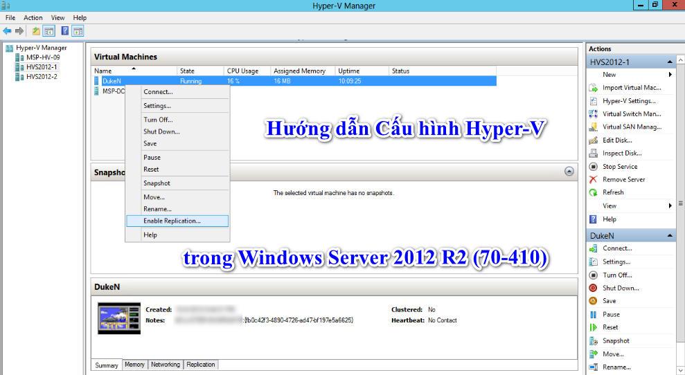 Hướng dẫn Cấu hình Hyper-V trong Windows Server 2012 R2 (70-410)
