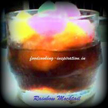 desi tamarind drink rainbow mocktail
