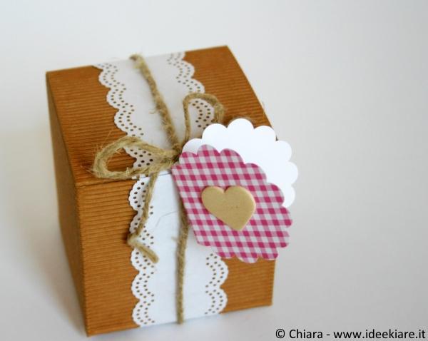 Confezione per bomboniera romantica