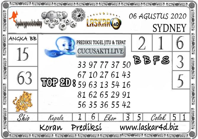 Prediksi Togel SYDNEY LASKAR4D 06 AGUSTUS 2020