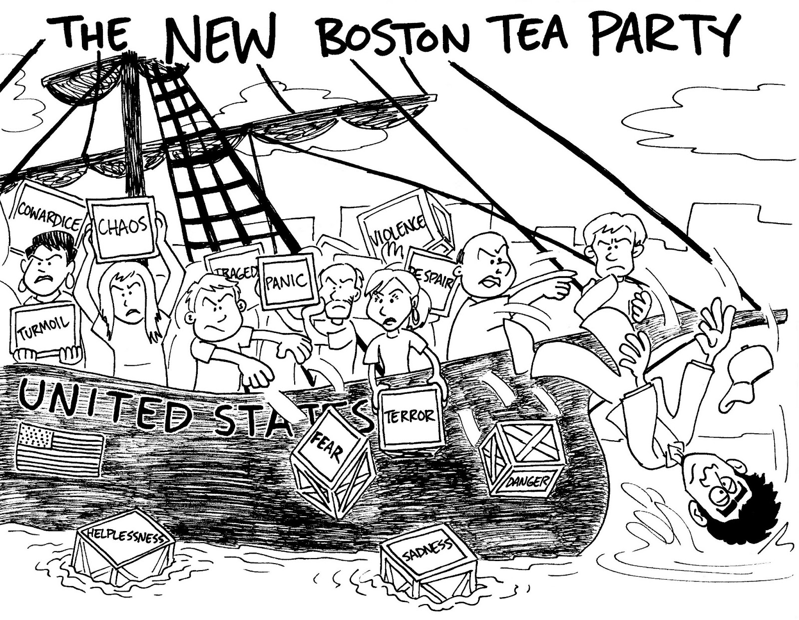j squared the new boston tea party Ski Mobile for more on this cartoon click here