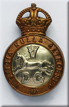 5th Dragoon Guards (cap badge)  (From British Empire website)