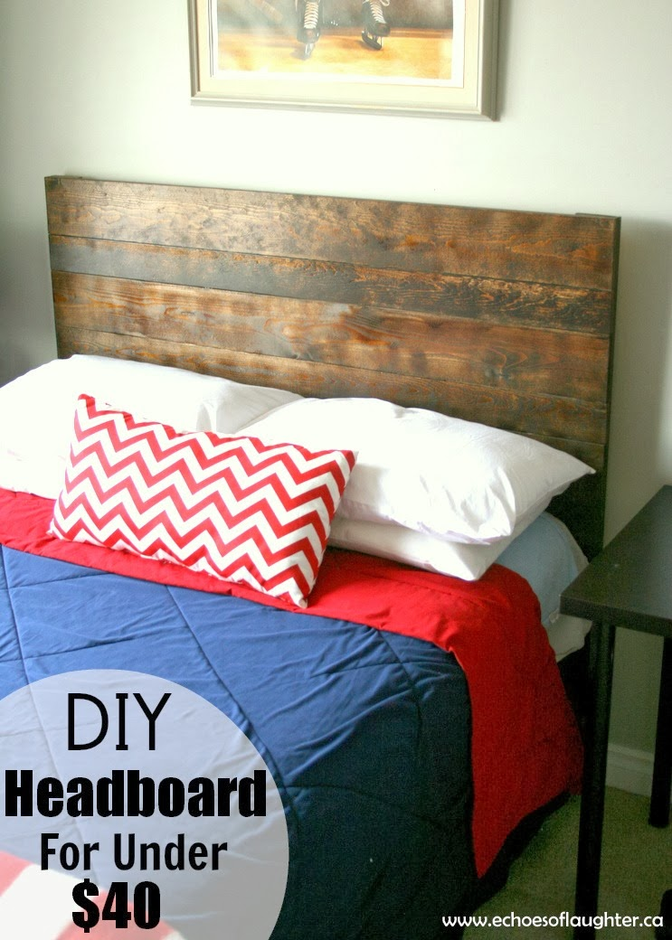 DIY Headboard For Under $40 - Echoes of Laughter