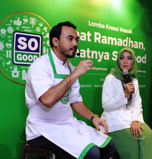 Chef Ari Galih, juri lomba kreasi masak So Good