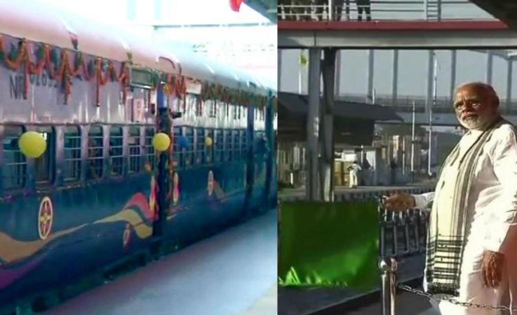 PM मोदी ने पटना-मड़ुआडीह इंटरसिटी को हरी झंडी दिखा कर किया रवाना
