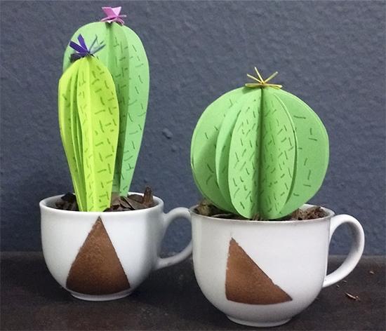 vaso cactus, cactus de papel, faça você mesmo, diy, decoração, decor, interior design