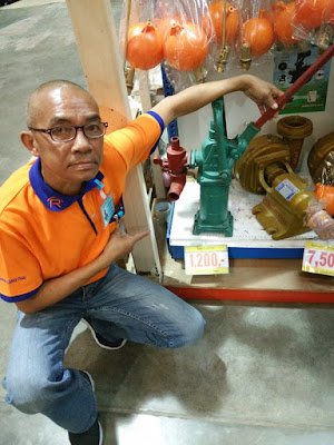 Buriram Hand operated manual well water pump with Mr. Sermsawat Maisook