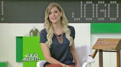 """Renata Fan durante o """"Jogo Aberto"""" desta quinta-feira - Divulgação/Band"""