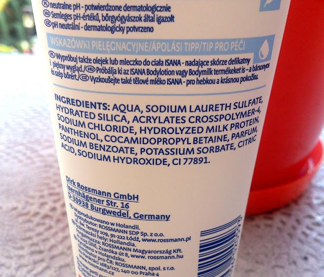 Isana, Peeling pod prysznic z proteinami mlecznymi