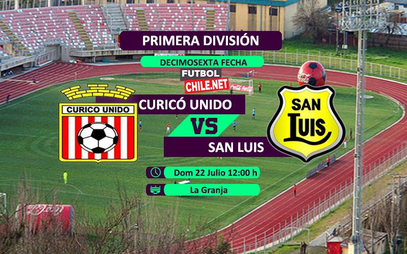 Mira Curicó Unido vs San Luis en vivo y online por la Primera División de Chile