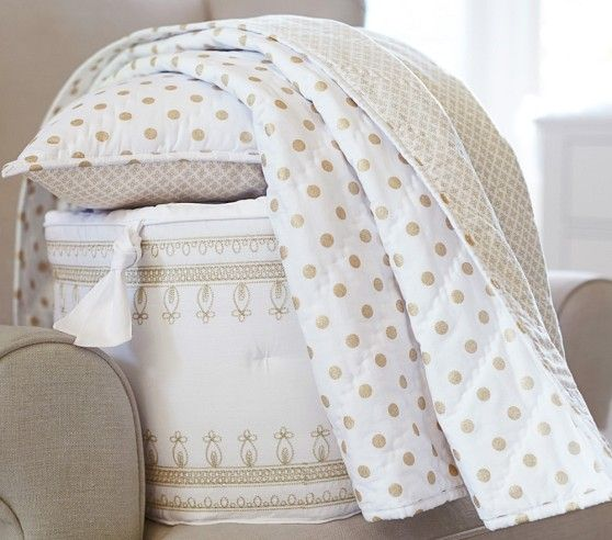 Gold White Baby Quilt Ahhh Quilting