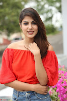 Rhea Chakraborty in Red Crop Top and Denim Shorts Spicy Pics ~  Exclusive 048.JPG
