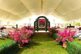Themed decoration of venue of Anushka Rajan Abhishek Doshi Wedding