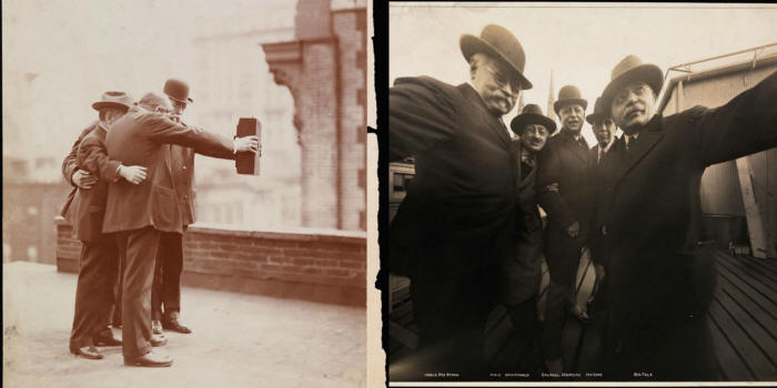 Funny The First Selfie Photograph Joke Picture