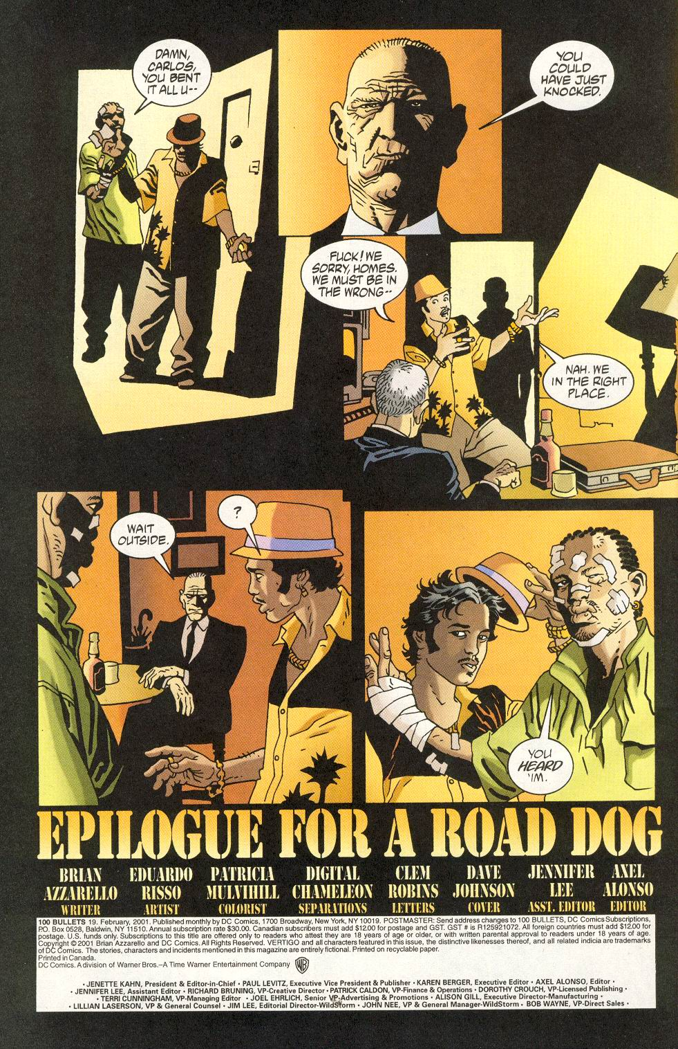 Read online 100 Bullets comic -  Issue #19 - 4