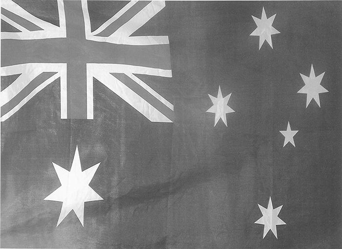 GRAYSCALE FLAG OF AUSTRALIA