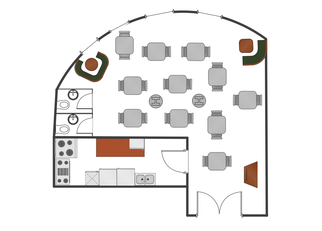 Foundation Dezin & Decor...: Restaurants Plan Layouts