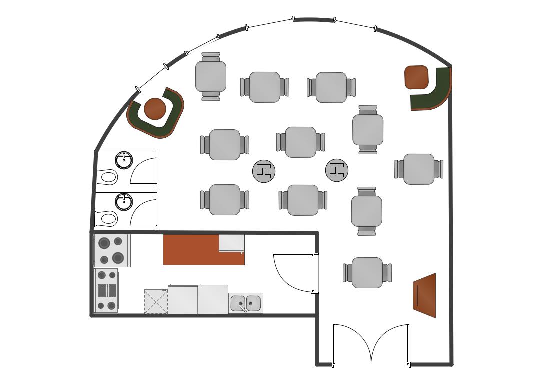 Foundation Dezin & Decor...: Restaurants Plan Layouts