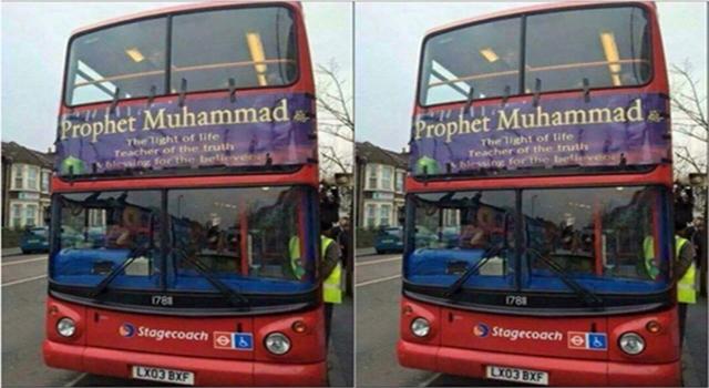 Bikin Heboh! Bus Di Inggris Ini Pasang Poster Bertuliskan Pujian Untuk Nabi Muhammad