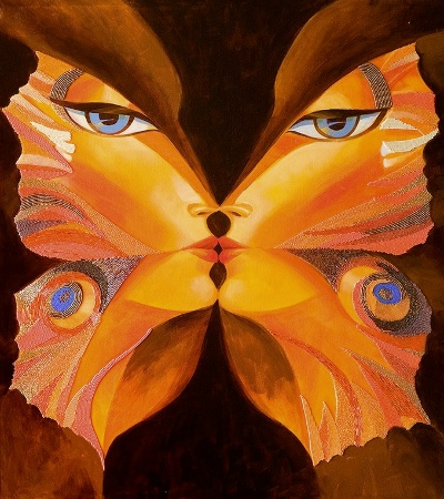 Butterfly Kiss IV by Alina Eydel