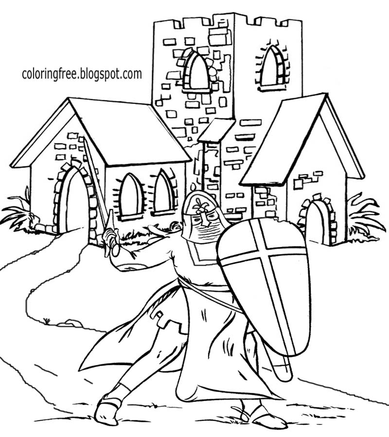 historical medieval coloring pages - photo#7