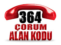 0364 Çorum telefon alan kodu