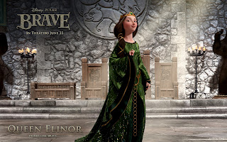 Brave Animation Movie 2012 Character Queen Elanor HD Wallpaper