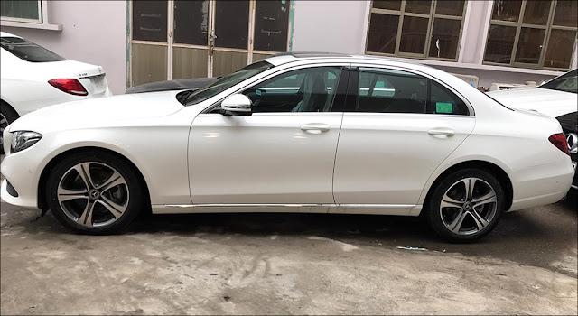 Mercedes E250 2019 có mâm xe kiểu mới