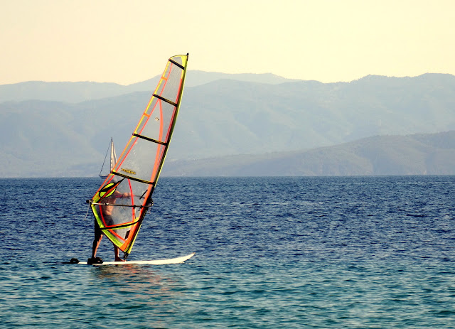 Parasaliling Vromolimnos Beach, Skiathos, Greece