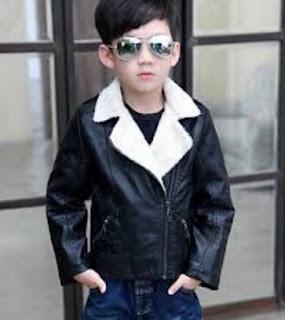 Model JAket Kulit Anak Dengan Wool
