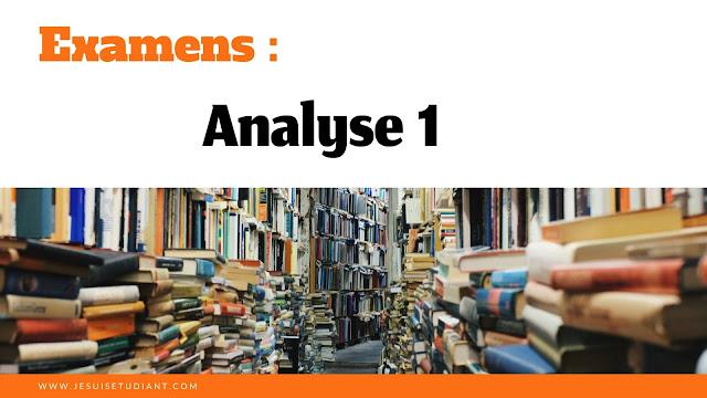 Examens : Analyse 1
