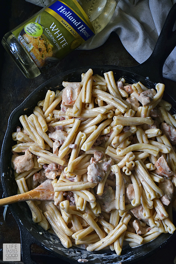 Chicken Cordon Bleu Pasta | by Life Tastes Good #LTGrecipes