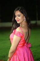 Actress Pujita Ponnada in beautiful red dress at Darshakudu music launch ~ Celebrities Galleries 071.JPG