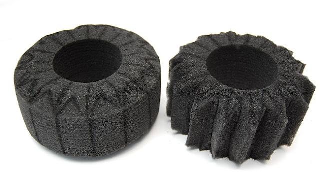 Axial AX10 tire foams cutting mod upgrade
