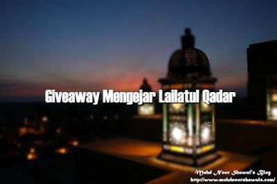 Giveaway Mengejar Lailatul Qadar