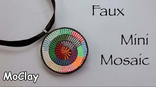 Clever faux micro mosaic polymer clay pendant tutorial the beading clever faux micro mosaic polymer clay pendant tutorial aloadofball Image collections
