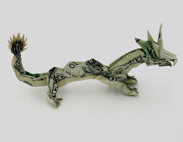 TRICERATOPS Dollar Origami - Dinosaur Made from Real Money ... | 471x605