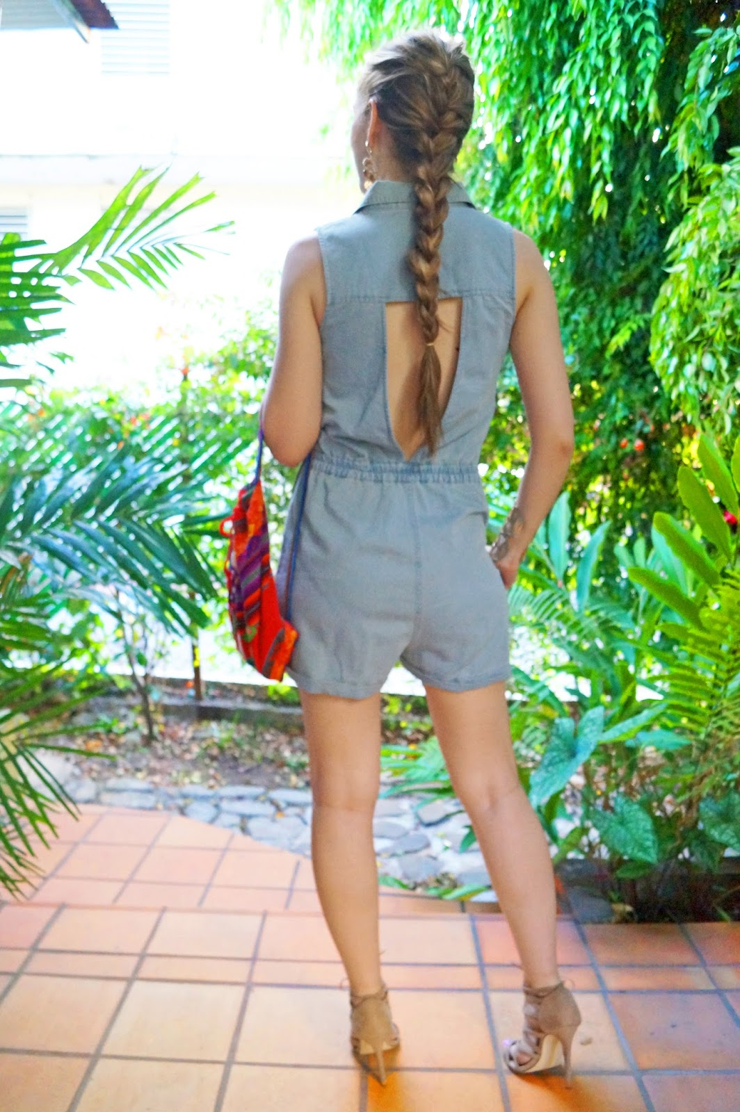 Denim Romper Outfit for Summer