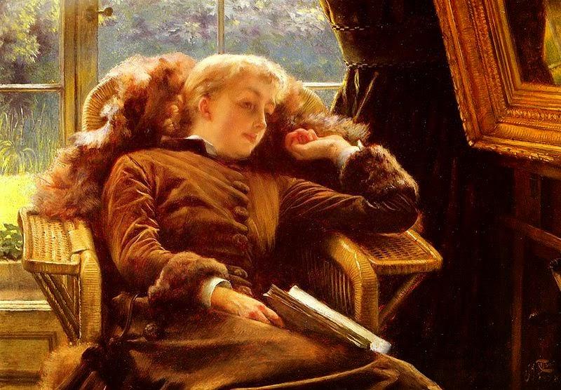 Kathleen Newton em uma Poltrona - As principais pinturas de James Tissot ~ Francês
