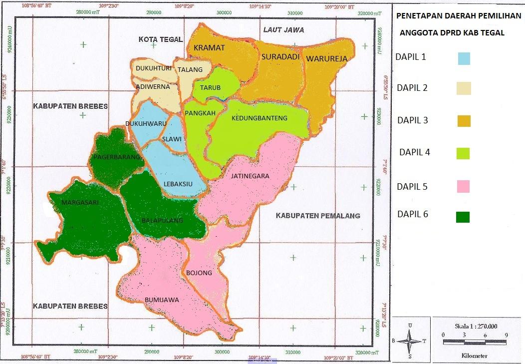 Kode Pos Kabupaten Tegal - Jawa Tengah | KODE POS AREA