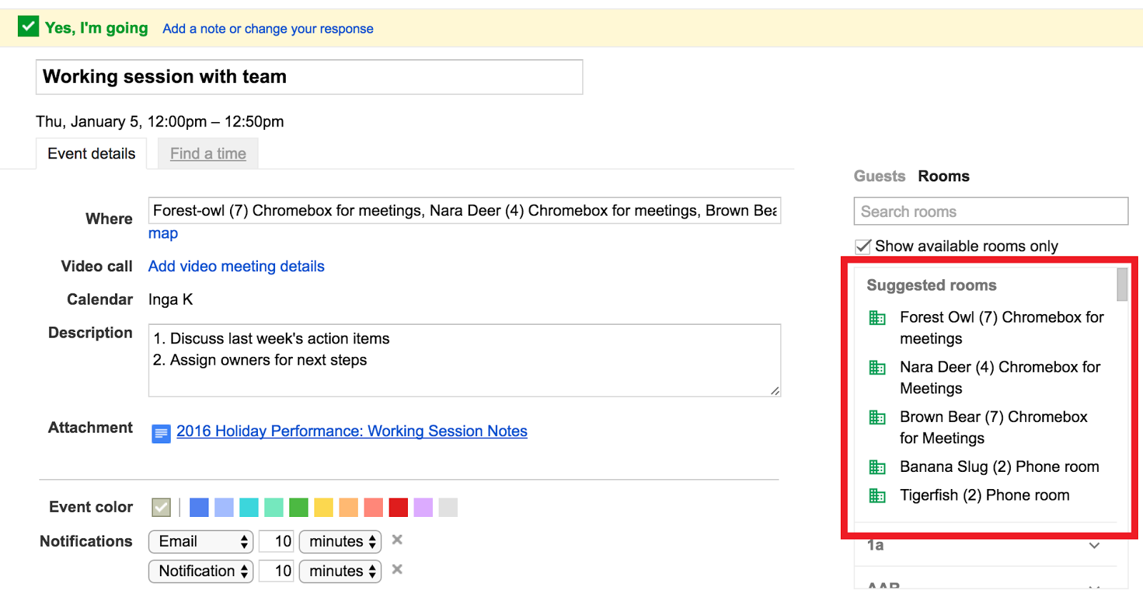 G Suite Updates Blog: Smarter meeting scheduling in Google Calendar