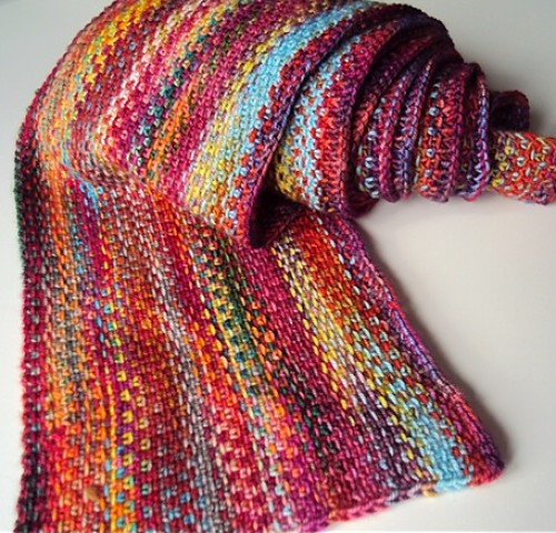 Scrappy Lengthwise Scarf - Knitting Pattern