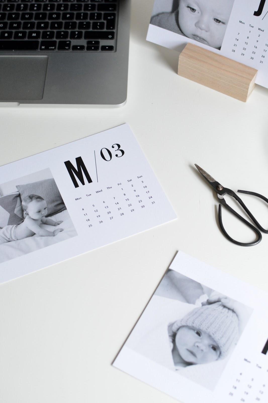 minimal calendar diy